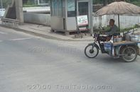 Noodles Motorcycle on Open Street