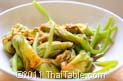 vegetarian stir fried squash blossoms