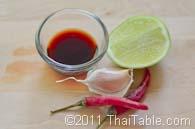 chili garlic fish sauce step 1