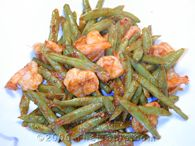 green beans and shrimp