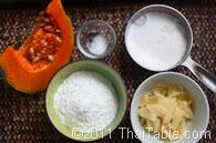 pumpkin sticky rice balls in coconut milk step 1