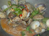 spicy clams with basil step 7