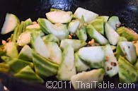 stir fried loofah step 4