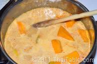 vegetarian pumpkin curry step 5