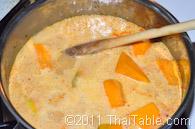 vegetarian pumpkin curry step 5