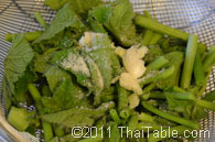 vegetarian stir fried pumpkin shoots step 5