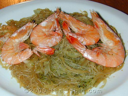 baked shrimp in clear noodles