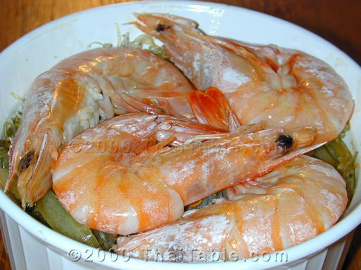 baked shrimp in clear noodles step 8