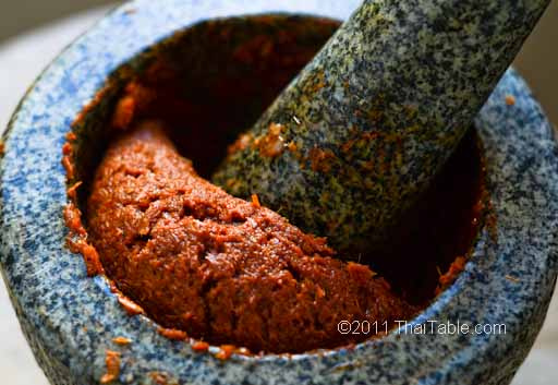 basic red curry paste