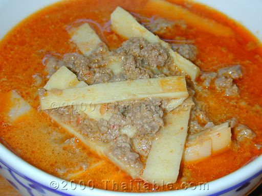 beef and bamboo shoot curry
