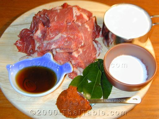 beef panang step 1