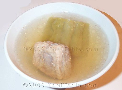 bitter melon soup in spare rib broth