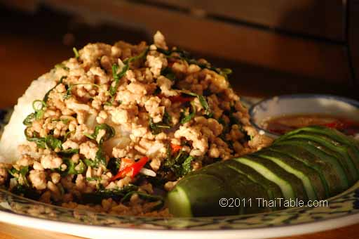 Chicken basil gai pad gaprow thaitable chicken basil or gai pad gaprow is one of the classics of thai food and is surprisingly easy to make it is popular among the thais and known as a forumfinder Images