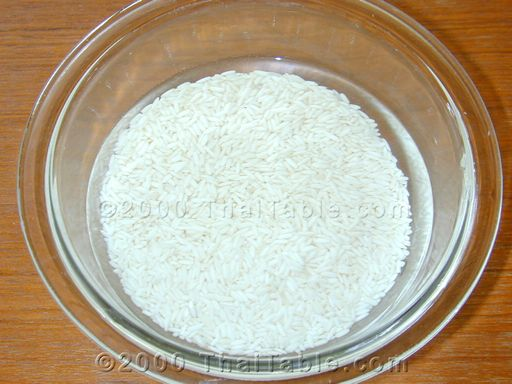 coconut milk sticky rice step 1