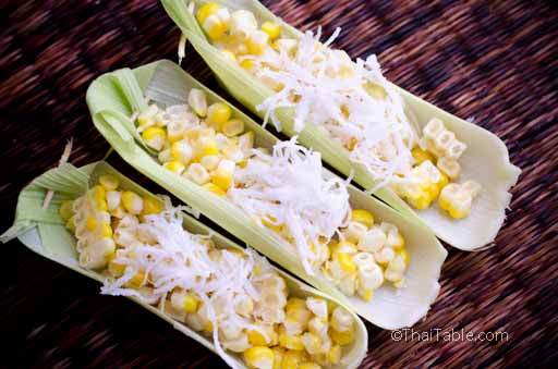 corn with shredded coconut