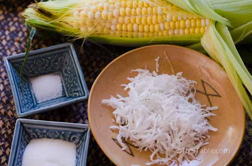 corn with shredded coconut step 1