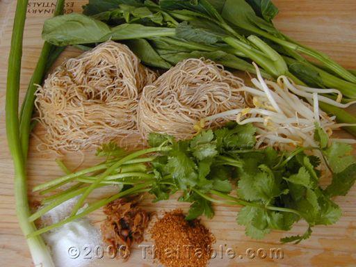egg noodles with barbeque pork step 1