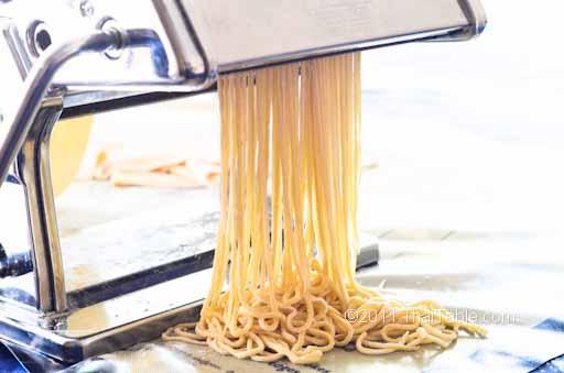 fresh egg noodles step 5