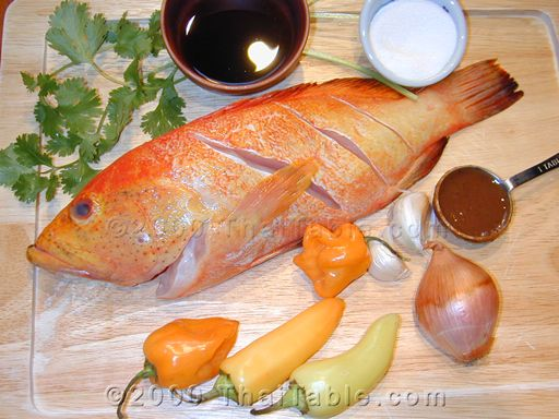 fried fish with tamarind sauce step 1