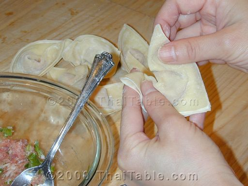 fried wontons step 6