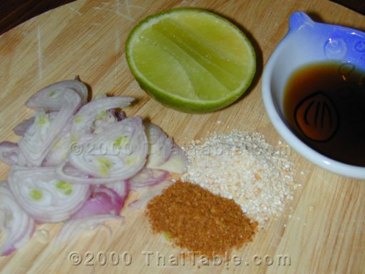 hot shallot sauce with toasted rice step 1