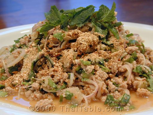 Laab larb thaitable laab also known as larb and laap is a northeastern food it usually eaten as a part of a set laab papaya salad and sticky rice forumfinder Choice Image