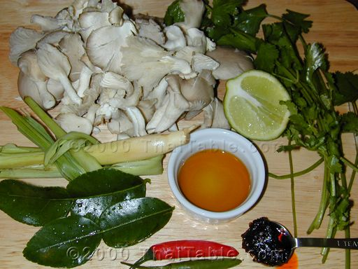 mushroom tom yum step 1