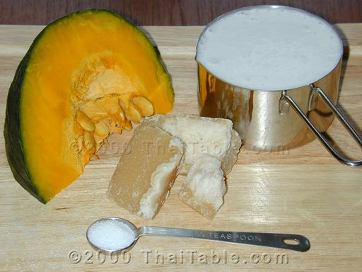 pumpkin in coconut milk step 1