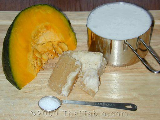 pumpkin in coconut milk step 1