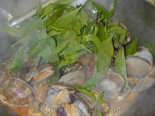 spicy clams with basil step 6
