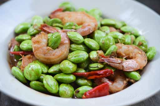 stinky beans and shrimp