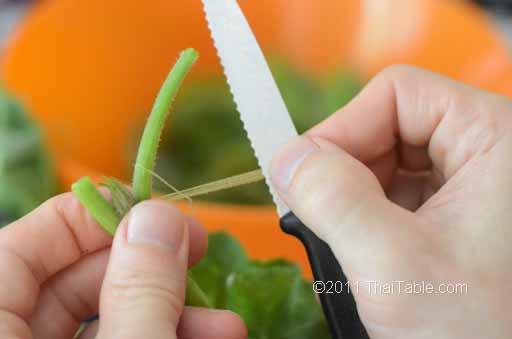 vegetarian stir fried pumpkin shoots step 3