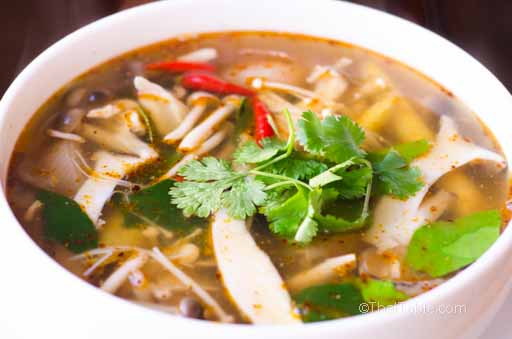 vegetarian tom yum hed recipe